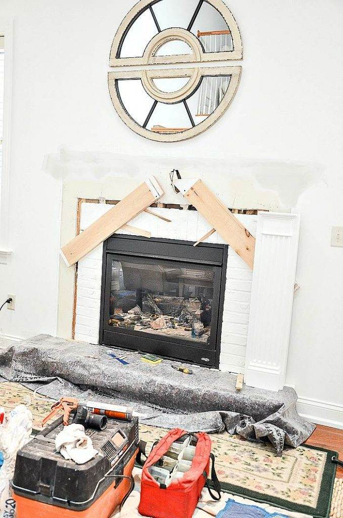 BUILDING A NEW FIRE PLACE