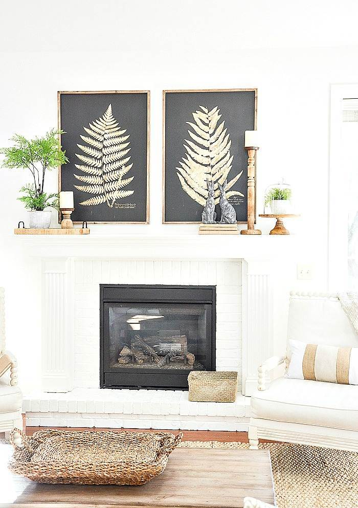 SPRING MANTEL IN A GREAT ROOM