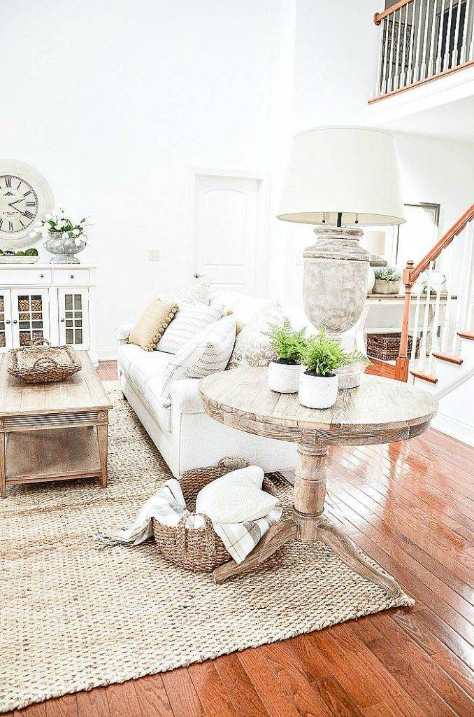 A GREAT ROOM DECORATED FOR SPRING