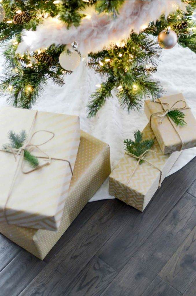 PACKAGES UNDER THE CHRISTMAS TREE