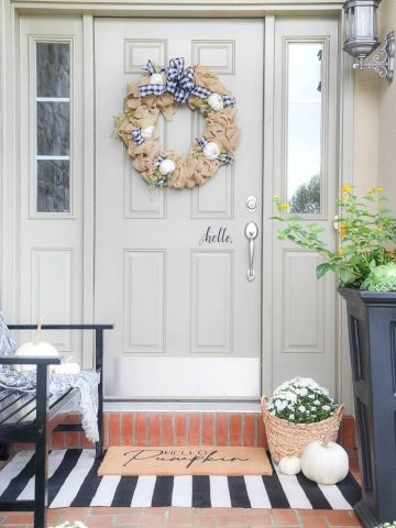 SMALL FALL PORCH DECORATING IDEAS