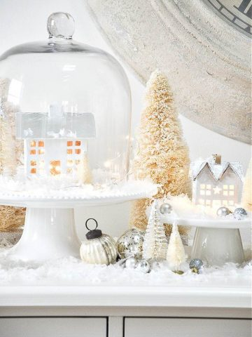 SNOWY WHITE CHRISTMAS VILLAGE DISPLAY