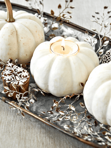 SO SWEET CANDLE IN A PUMPKIN DIY