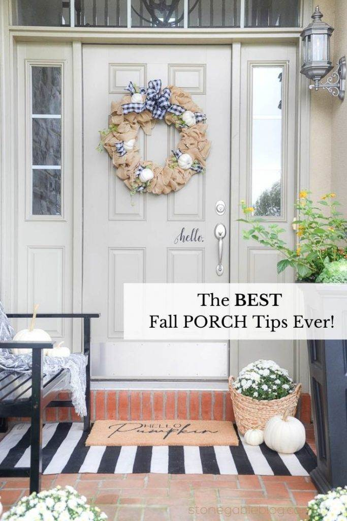 PIN OF A FALL FRONT PORCH