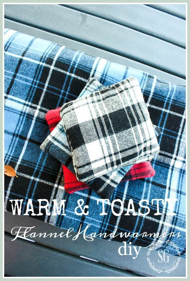 flannel plaid hand warmers