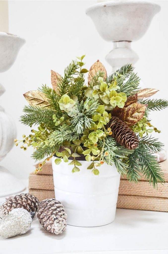LITTLE POTTED CHRISTMAS ARRANGEMENT