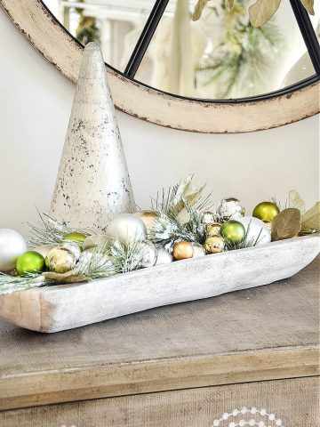 HOW TO USE FAUX GREENS AT CHRISTMAS