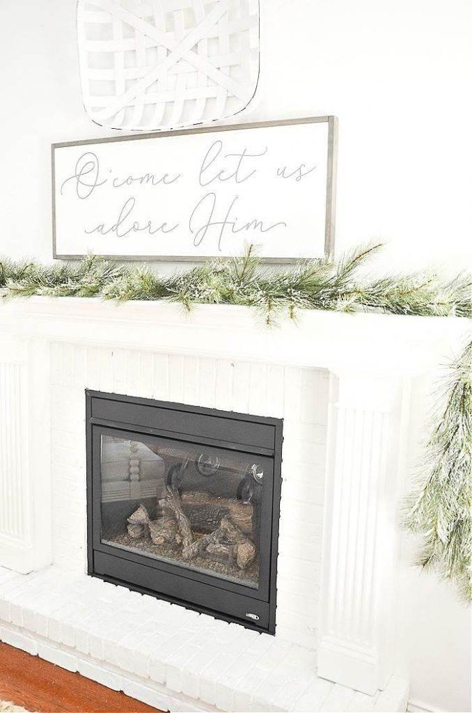 FAUX GREENS CHRISTMAS MANTEL