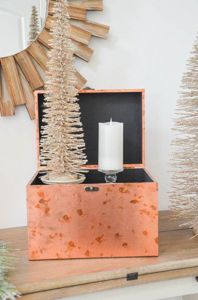 TREE AND CANDLE IN ARRANGEMENT