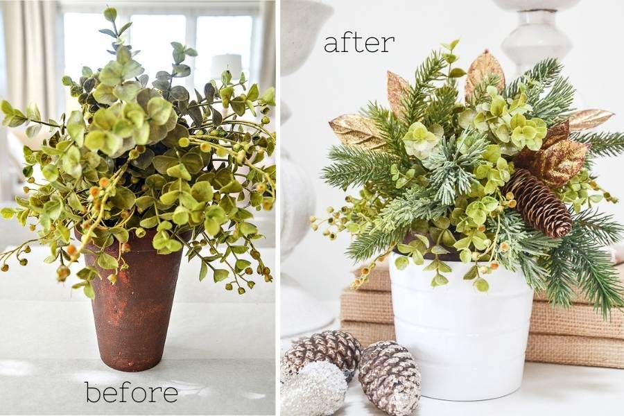 BEFORE AND AFTER ARRANGEMENT