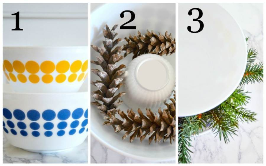 DIRECTIONS 1 TO 3 TO MAKE A CHRISTMAS ARRANGEMENT
