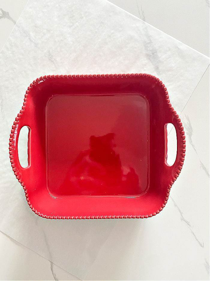 RED BAKER WITH HANDLES