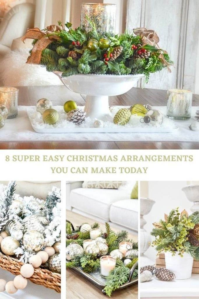 COLLAGE OF CHRISTMAS ARRANGEMENTS