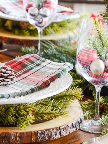 PRETTY TARTAN BRUNCH TABLESCAPE