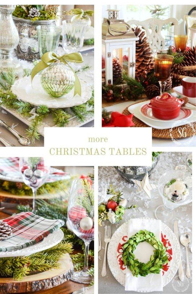 COLLAGE OF CHRISTMAS TABLESCAPES