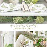 COLLAGE OF CHRISTMAS TABLE