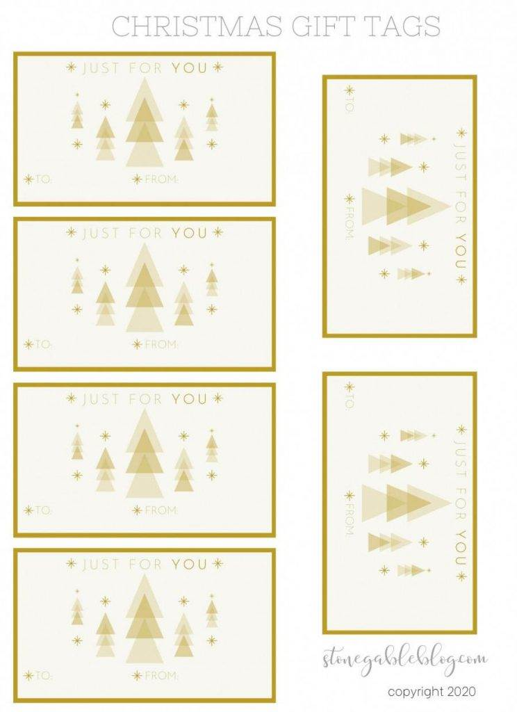 GOLD TREE GIFT TAGS