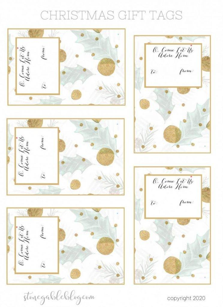 O, COME LET US ADORE HIM GIFT TAGS