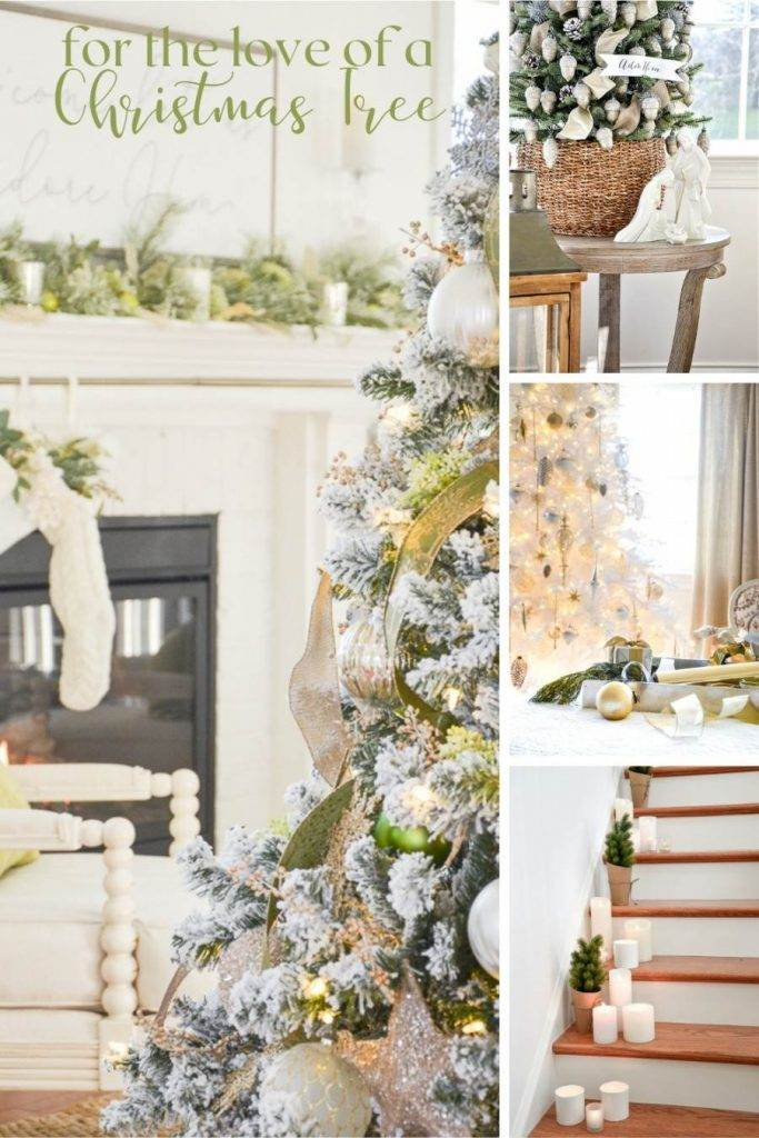 COLLAGE OF CHRISTMAS TREES