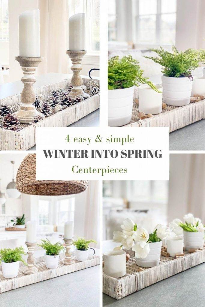 collage of centerpieces for pinterest