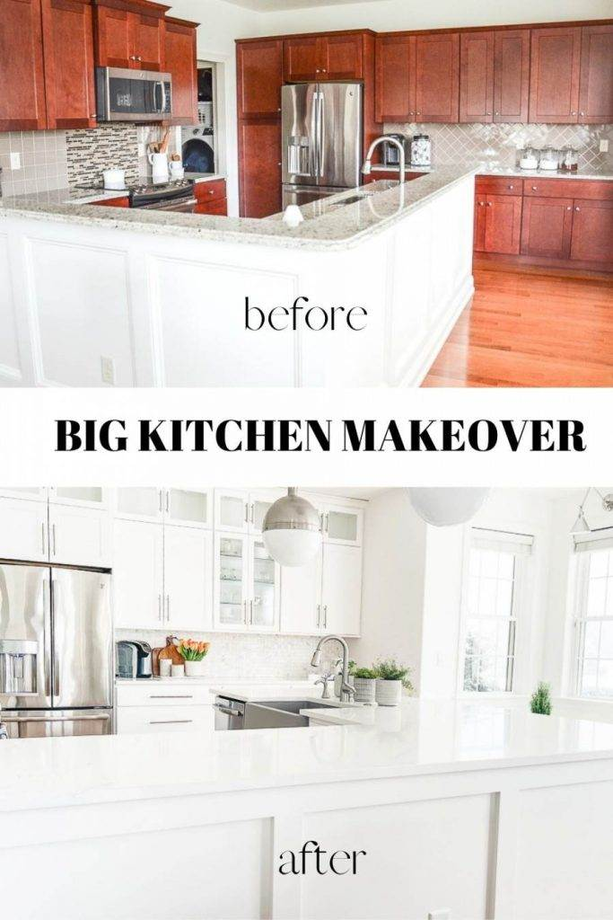 BEFORE AND AFTER KITCHEN MAKEOVER PIN