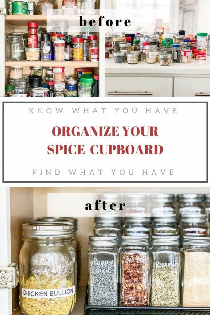 PIN FOR HOW TO ORGANIZED YOUR SPICE CUPBOARD