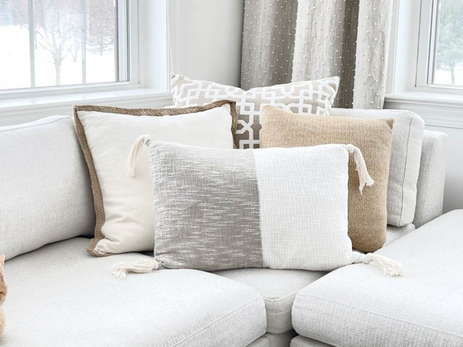 PILLOWS ON A SECTIONAL