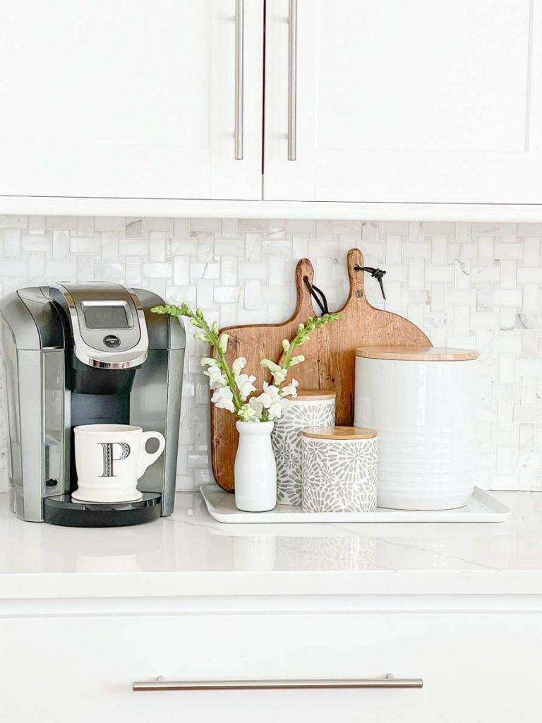 COFFEE STATION IN A KITCHEN