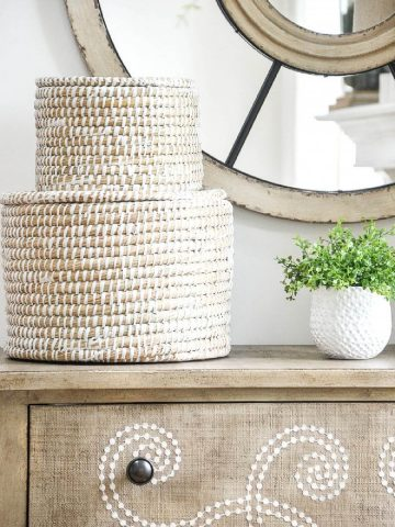 HOW TO ADD BASKETS TO YOUR HOME DECOR