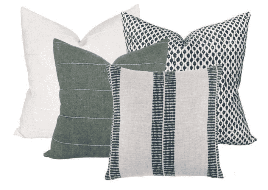 PILLOW COLLECTION IN GREEN AND BLUE