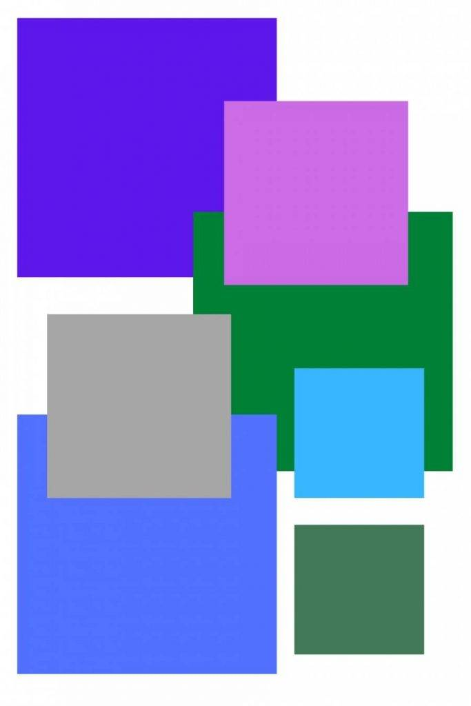 BLOCKS OF COOL COLOR