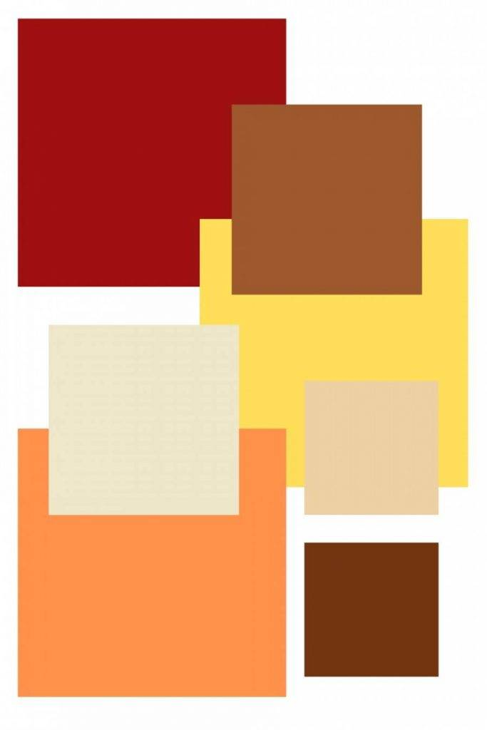 BLOCKS OF WARM COLOR