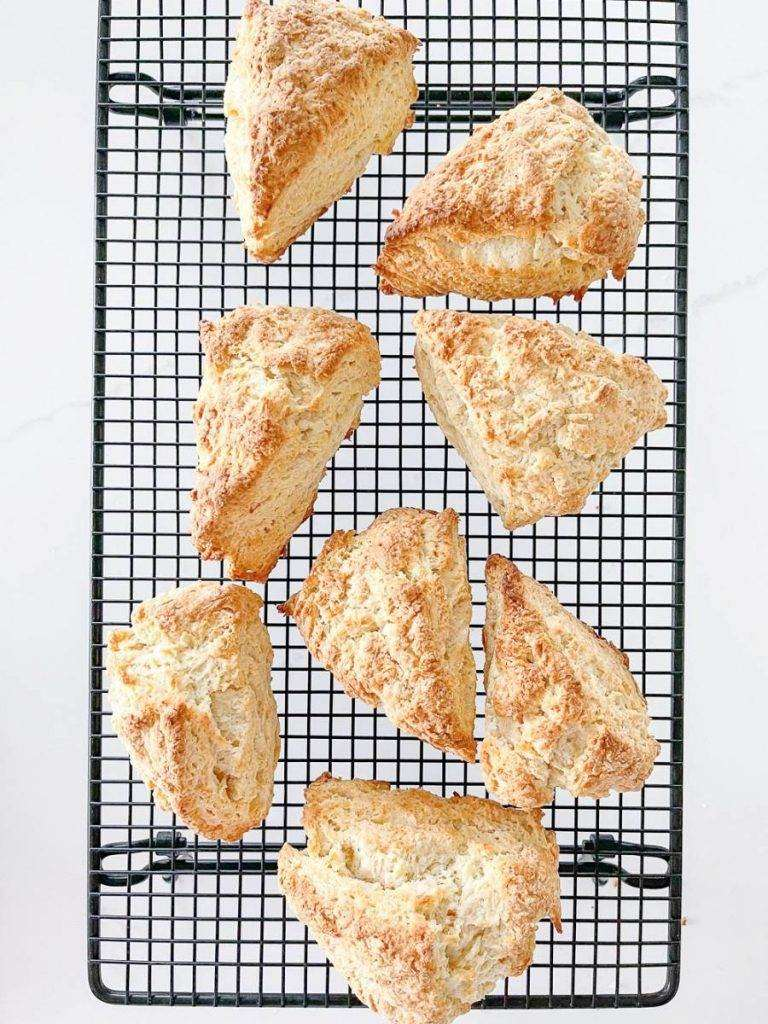 SCONES COOLING ON A WIRE RACK