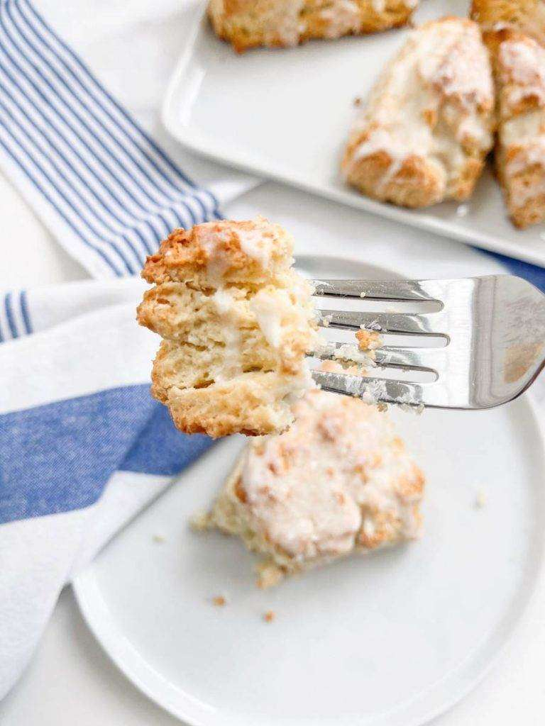 A FORK FULL OF SOUR CREAM SCONE