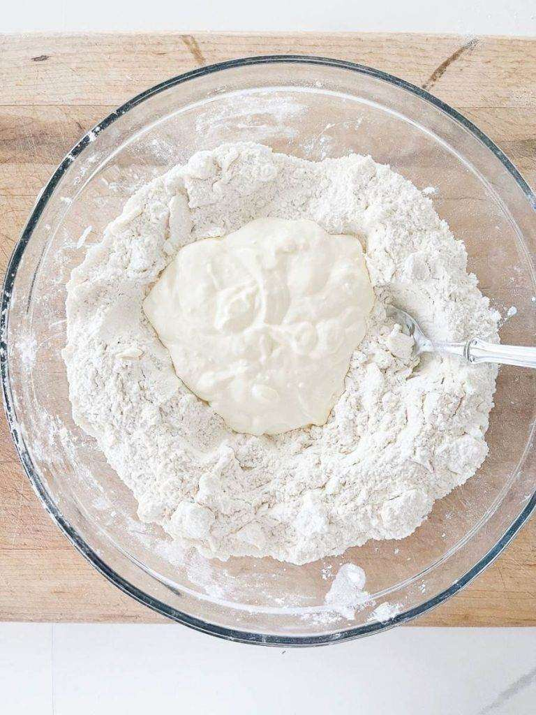 BOWL OF WET AND DRY INGREDIENTS