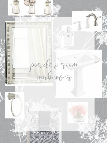 POWDER ROOM MAKEOVER AND IDEAS