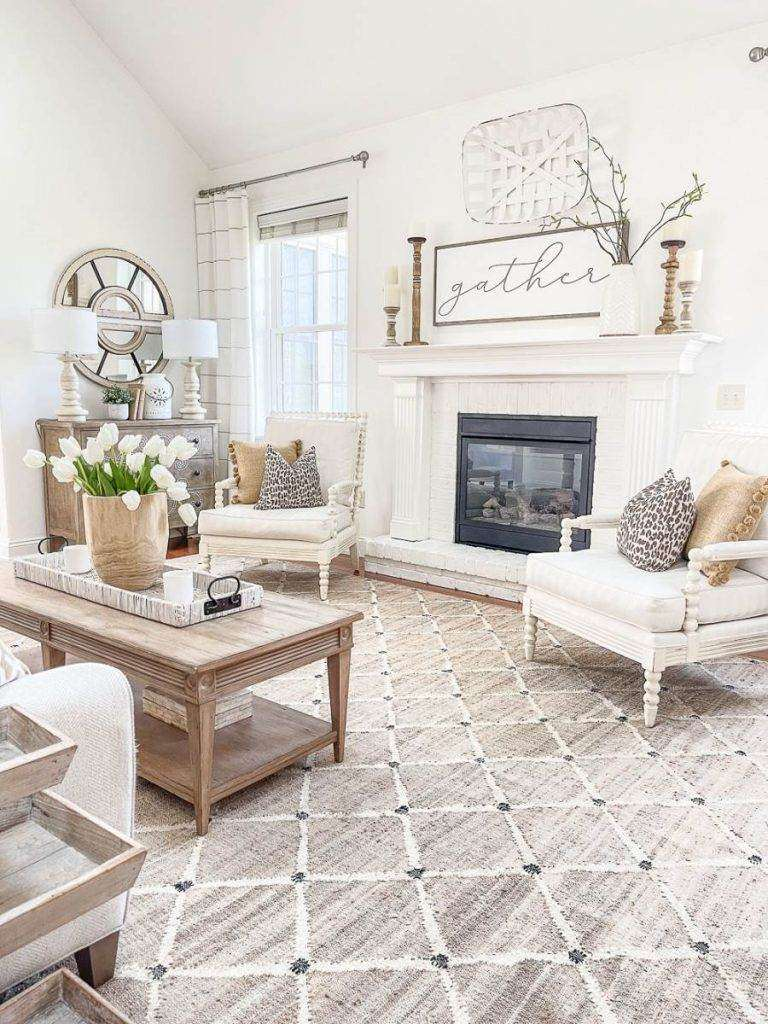great room decorated in neutrals