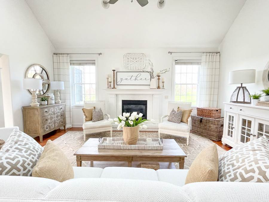 neutral colored great room