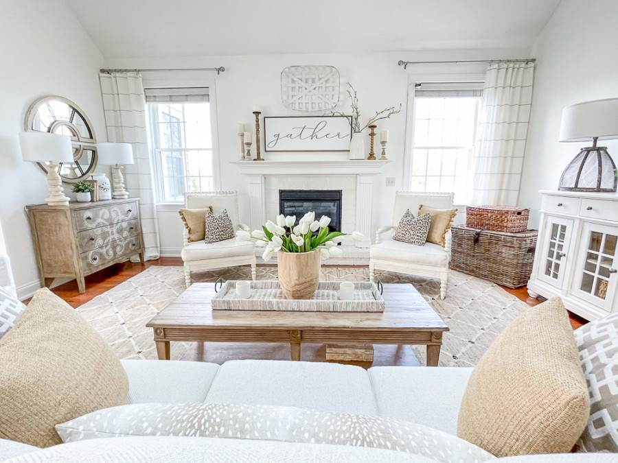 LIVING ROOM WITH A COHESIVE LOOK
