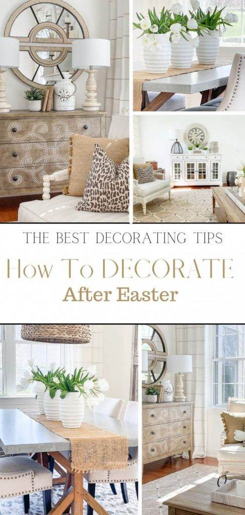 collage for spring decorating post