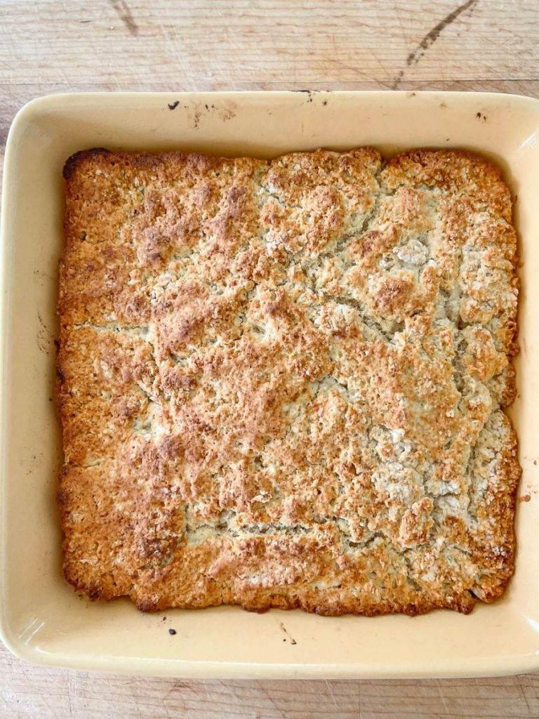 PAN OF GOLDEN BROWN SHORTCAKE