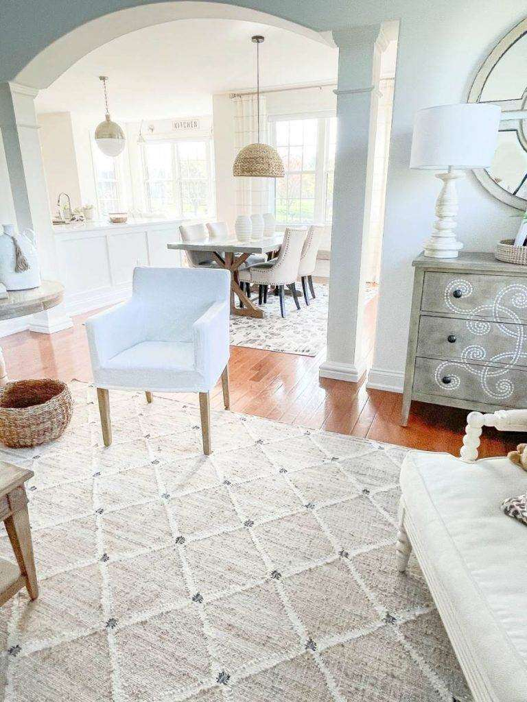 LIVING ROOM AND DINING ROOM WITH A COHESIVE LOOK