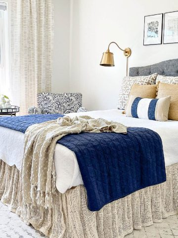 SUMMER GUEST BEDROOM TOUR AND INSPIRATION