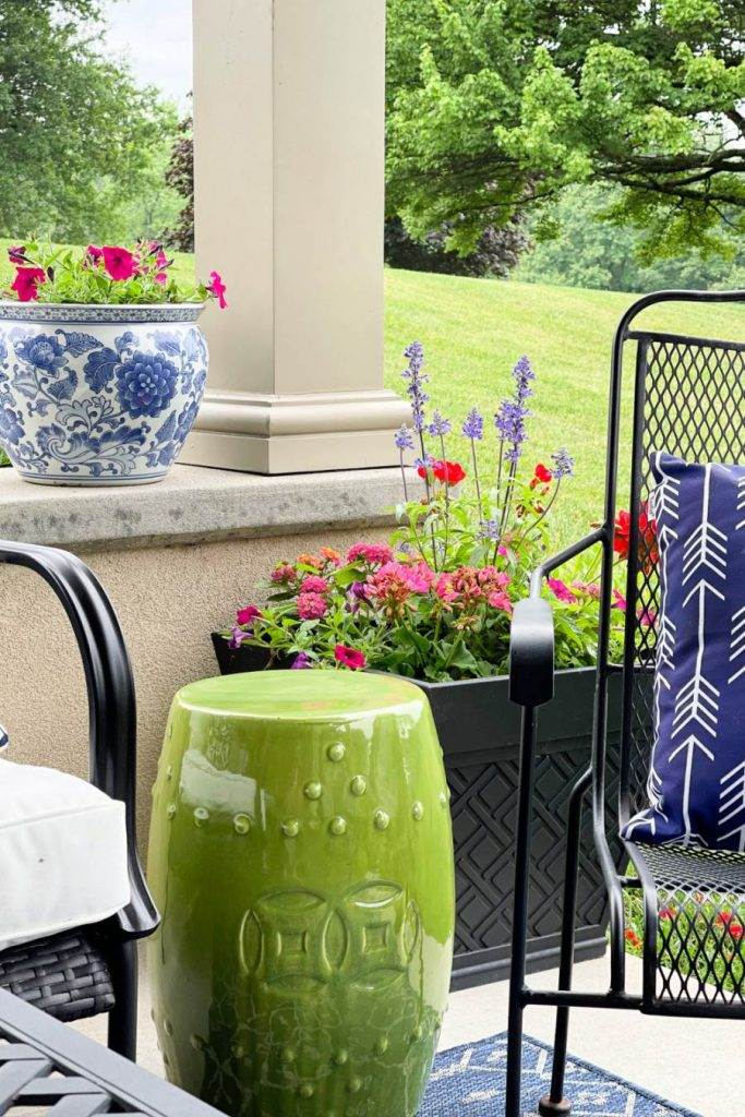 Lots of the best summer tips, ideas, inspiration and easy to do decorating for small porches and patios and container gardens.