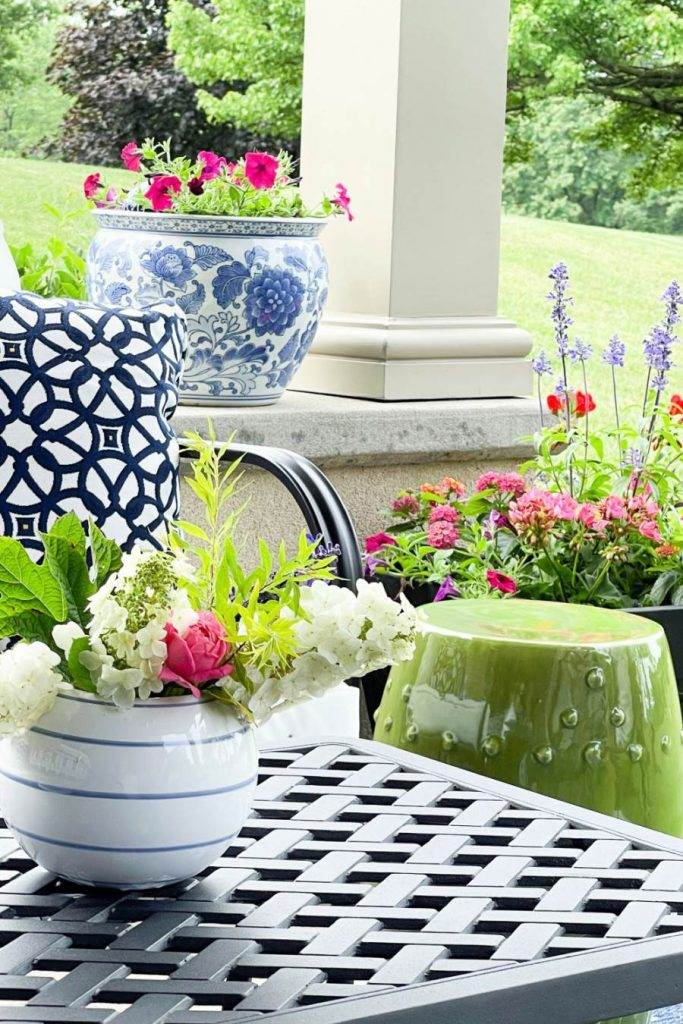 FLOWERS ON A PATIO