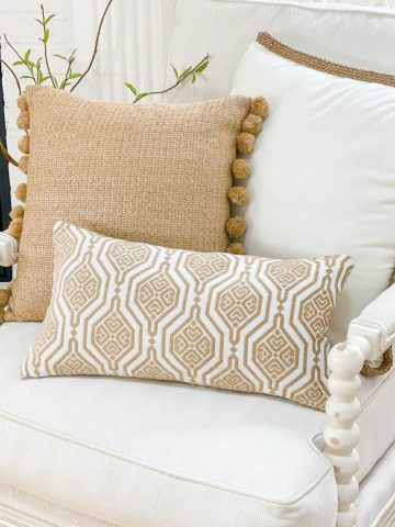 EASY AND PRETTY HAND SEWN PILLOW
