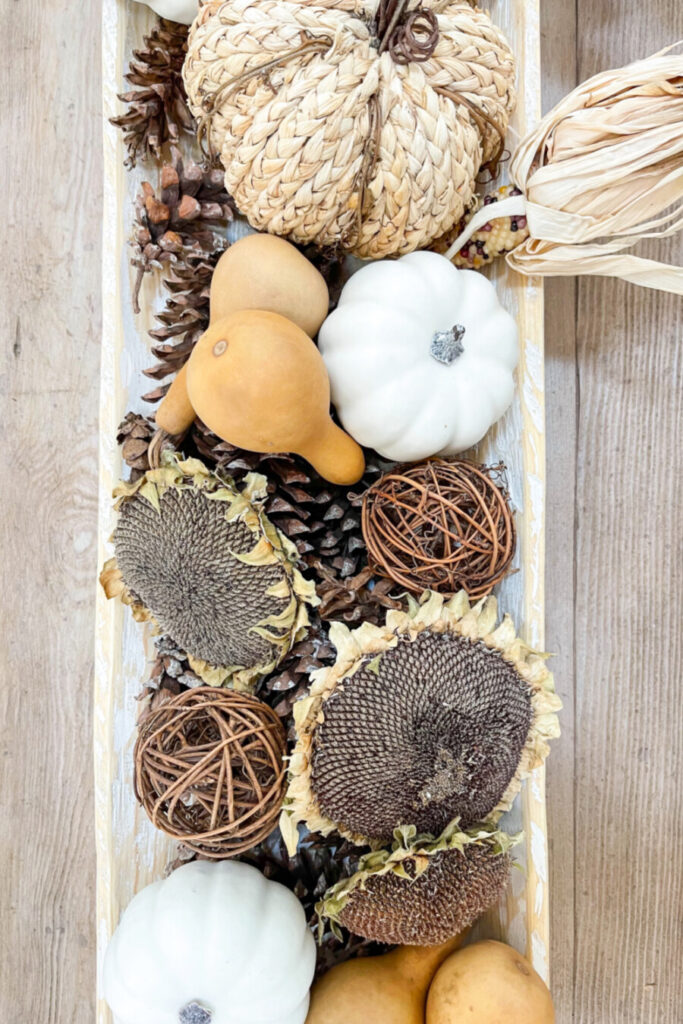 large items in fall dough bowl