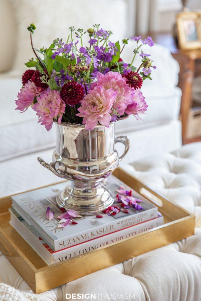 flowers in a champagne bucket celebrating WWW