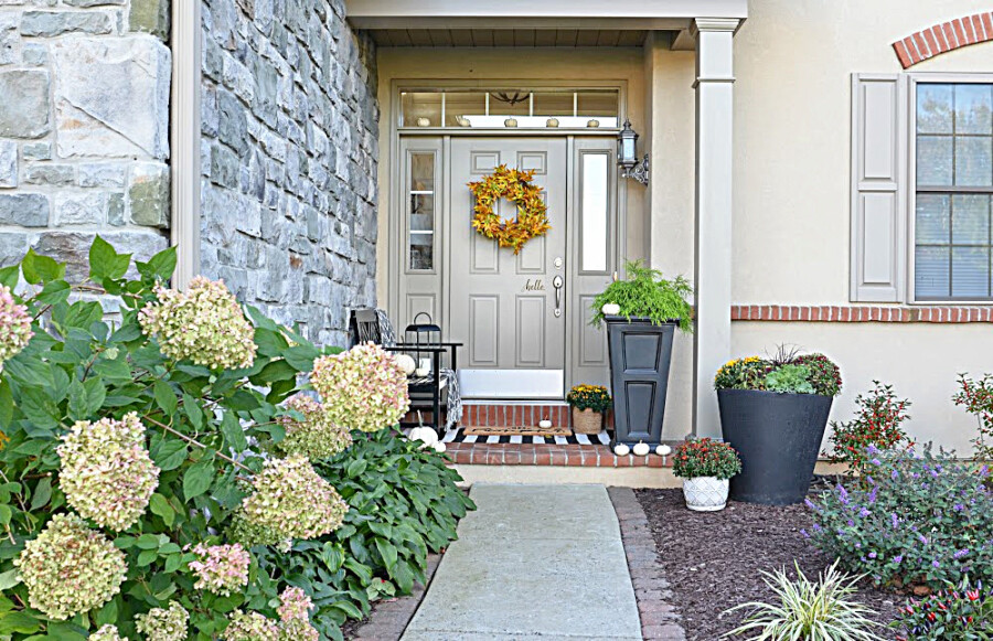 FALL PATIO AND PORCH AND FRONT DOOR