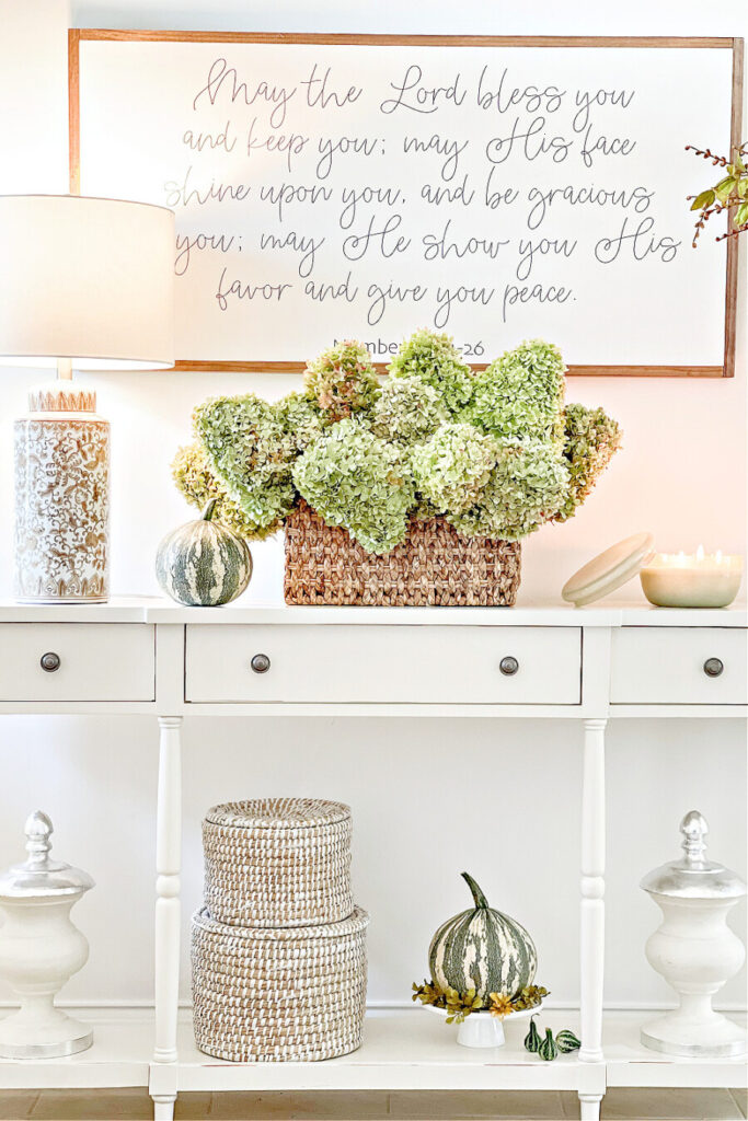 FOYER ON A FALL HOME TOUR